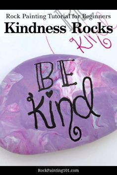 Learn how to paint kindness rocks with these tips and tricks. We have loads of video tutorials that walk you through how to hand letter, create base coats, and even seal your rocks. Perfect for hiding around your city or giving as a gift, to brighten someone's day. #kindness #spreadkindness #paintedrocks #rockpainting101 What Is Kindness, Kindness Rocks, Painted Rocks Craft, Painted Sticks, Dot Painting, Stone Painting, Rock Crafts, Fun Crafts, Rock Sayings