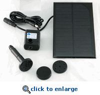SOLAR POWERED WATER FOUNTAIN PUMP - GREAT FOR YARD PONDS