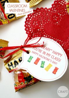 I'm beary happy you're in my class! Free printable Valentines!