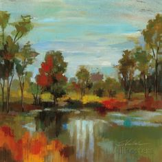 Hidden Pond Hues I アートプリント