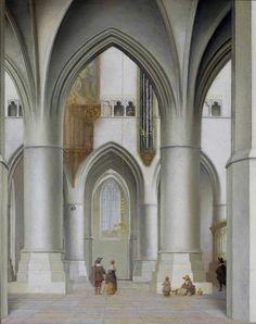 Interior of the Church of St. Bavo in Haarlem by Pieter Jansz. Saenredam, 1635 (PD-art/old), Muzeum Narodowe w Warszawie (MNW)
