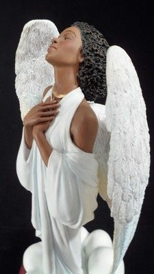 Angel in prayer. Angel Images, Angel Pictures, Angel Quotes, African American Culture, I Believe In Angels, Supernatural Beings, Black Angels, Godchild, Angels Among Us