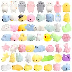 Toy Advent Calendar - the surprise junk all our kids love - BusyTykes Animal Squishies, Cute Squishies, Figet Toys, Kids Toys, Toy Advent Calendar, Pusheen, Classroom Prizes, Cool Fidget Toys, Stress Relief Toys