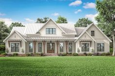 Plan Expanded Modern Farmhouse with Optional Bonus Room This modern farmhouse plan expands on our wildly popular plan and gives you a larger open floor plan and replaces the dining room with a private office.Enter the foyer… Continue Reading →