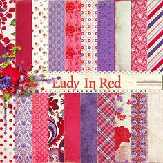Lady In Red Paper Set