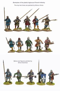 AO 50 Agincourt French Infantry 1415-29, Perry Miniatures 28mm Miniatures, Fantasy Miniatures, English Longbow, Battle Of Agincourt, English Army, Landsknecht, Wars Of The Roses, Miniature Figurines, Fantasy Warrior