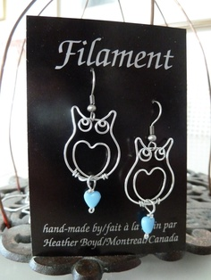 .wire-wrap owls...love!!