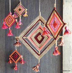 The traditions behind these lovely colorful weavings come from indigenous…