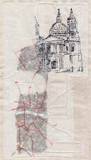 St Paul's, London - On the Map - Wendy Dolan Castle Project, British Architecture, A Level Art, Sense Of Place, Environmental Art, Fabric Manipulation, Textile Artists, Fiber Art, Cool Art