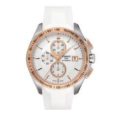 Veloci-T Womens White Automatic Chronograph Sports watch. Tissot.