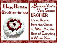 happy birthday brother in law | Happy birthday to a special brother-in-law