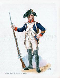 Caporale dei fucilieri di una mezza brigata di fanteria francese