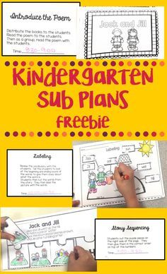 Free half day Jack and Jill themed sub plans. Includes an emergent reader, labeling activity and sequencing events. Kindergarten Lesson Plans, Kindergarten Reading, Kindergarten Teachers, Kindergarten Activities, Kindergarten Orientation, Kindergarten Literacy, Preschool Math, Emergency Sub Plans, Las Vegas
