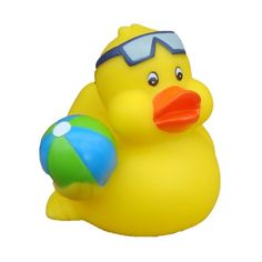 Happy Hot Tubs Beachball Duck with Goggles for Swimming Pools and Hot Tubs. Great Quality!