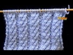 Cómo Tejer Punto Espiral Doble - 2 agujas (571) - YouTube