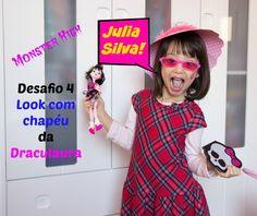 Desafio 4 da Julia Silva - Look com chapéu (Draculaura)