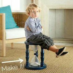 de stoel waar je een kind even een time out kan geven