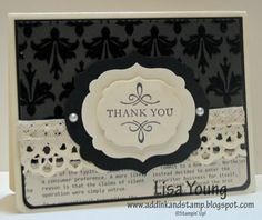 Elegant Thank You by genesis - Cards and Paper Crafts at Splitcoaststampers