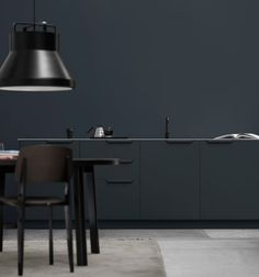 Antracit coloured kitchen designed by Sigurd Larsen designed for Reform.
