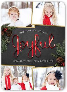 Joyful Ribbon 5x7 Christmas Card   Send a Christmas card friends and family will love.   Shutterfly