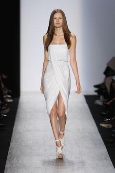 White dress, white sandals