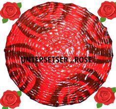 3 Lunch Servietten Blumen Verschiedene Rosen im  Korb Rosenkorb auf schwarz