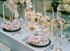 blush and silver wedding, mercury glass charger, platinum china, duplet flatware, silver rim glassware, blush lamour napkin, https://partypleasersblog.wordpress.com, http://instagram.com/partypleasers,