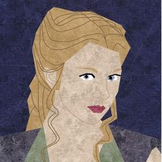 "Fandom In Stitches: Game of Thrones Margaery Tyrell  by misha29.com 10"" by 10"" Paper Pieced and Embroidered  Free from fandominstitches.com Free for personal and non-profit use only"