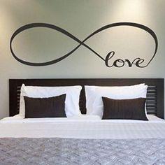 Kolylong® 44 * 120cm Chambre Stickers Muraux DéCor Infinity Symbole Mot Amour Vinyle Art