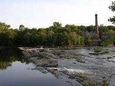 File:WinooskiFalls.JPG  Mill and Falls in Winooski, Vermont