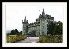 Argyle Framed Print featuring the photograph Inveraray Castle, Inveraray, Argyle, Scotland. 28th August 2015 by Paul Cullen