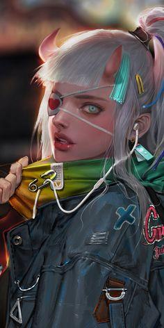 Cyberpunk Girl, Cyberpunk Fashion, Fantasy Art Women, Fantasy Girl, M Anime, Anime Art Girl, Fantasy Character Design, Character Art, Desenhos League Of Legends
