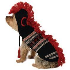 New York Dog Mohawk Hooded Sweater - Black, Large - http://www.thepuppy.org/new-york-dog-mohawk-hooded-sweater-black-large/