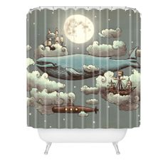 Terry Fan Ocean Meets Sky Shower Curtain   DENY Designs Home Accessories