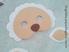 BLOG DA TIA JAQUE: Máscara de Ovelha em EVA - Com Moldes