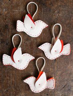 Felt Bird Ornaments Kit