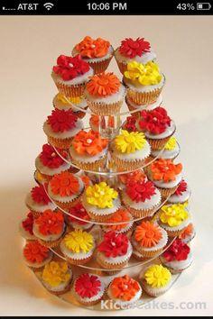 Red orange and yellow wedding theme :)