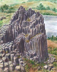 Minimax.cz - umělecký server pro všechny autory - PANSKÁ SKÁLA, akvarel Jana Haasová Watercolor Landscape, Rocks, Trees, Paintings, Texture, Drawings, Plants, Surface Finish, Paint