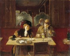 Jean Béraud (1848-1935), Un Café (l'Absinthe) - 1909