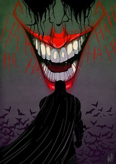 The Joker's circle of maniacal laughsthe psychotic lunatic one