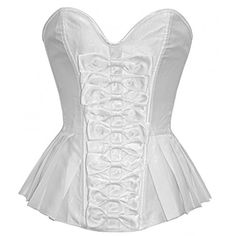 Aimeiya Front Tie Ruffle Overbust Fashion Burlesque Corset *** More info could be found at the image url.
