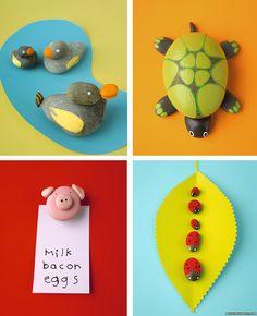 Manualidades infantiles con piedras pintadas, personajes divertidos, animales, retratos, ¡no os perdáis estas manualidades para niños!