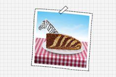 """Ein Zebrakuchen ist der perfekte Kuchen für den Kindergeburtstag: Einfach nachzubacken, äußerst lecker - und originell! Hier das Rezept für Zebrakuchen. © Tanja Kirschner (Autorin und Illustratorin von """"Essen wie die Tiere - Ein Kinderkochbuch"""")"""