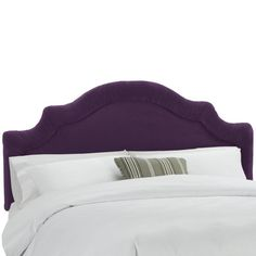 Shirred Notched Velvet Upholstered Headboard