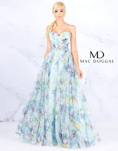 Ball Gowns by Mac Duggal Be sweet & beautiful in this flowy organza ballgown. The sweetheart neckline is accenuated with a rhinestone belt with intricate flower Beautiful Evening Gowns, Evening Dresses, Prom Dresses, Wedding Dresses, Mori Lee Dresses, Jasmine Dress, Wedding Venue Inspiration, Wedding Ideas, Formal Wear Women