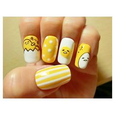Gudetama Nails Art