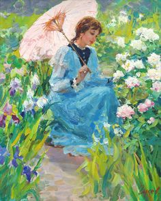 In the garden by Vladimir Gusev