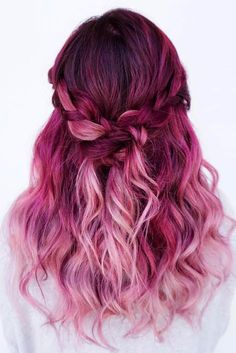 Trendy Hair Color : Magenta hair color is perfect for daring ladies who are not scared of experiment