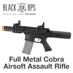 Black Ops Full Metal Cobra Airsoft Assault Rifle