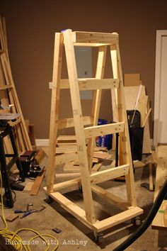 Easy portable lumber rack free diy plans lumber rack for Mobile lumber storage rack plans
